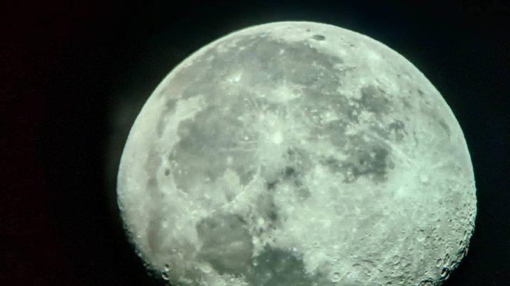 月を撮影しました🌔
